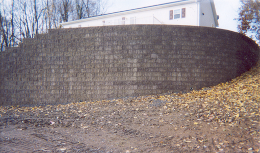 Smiths Lawn and LandscapingCurved Brick Retaining Wall
