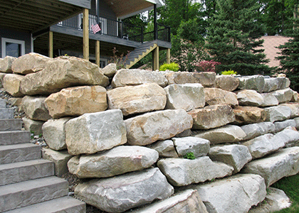 Layered Stone Wall